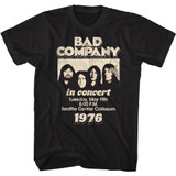 Bad Company In Concert 76 Black Adult T-Shirt