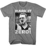 The Big Lebowski Mark It Zero 2 Graphite Heather Adult T-Shirt