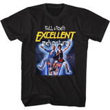 Bill and Ted B and T Space Poster Black Adult T-Shirt