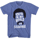 Happy Gilmore You're In My World Royal Heather Adult T-Shirt