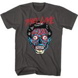 They Live Alien Head Smoke Adult T-Shirt