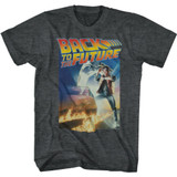 Back To The Future Poster With a Gig Logo Black Heather Adult T-Shirt