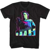 Halloween Neon Knife Black Adult T-Shirt