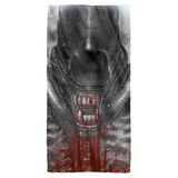 Alien Blood Drool Cotton Front Poly Back Beach Towel White 30x60