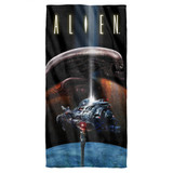 Alien Prey Cotton Front Poly Back Beach Towel White 30x60
