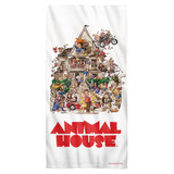 Animal House Poster Cotton Front Poly Back Beach Towel White 30x60
