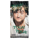 Animal House Toga Cotton Front Poly Back Beach Towel White 30x60