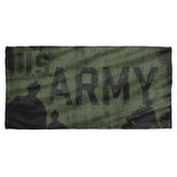 Army Strong Cotton Front Poly Back Beach Towel White 30x60