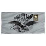 Army Union Cotton Front Poly Back Beach Towel White 30x60