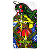 Atari Centipede Cotton Front Poly Back Beach Towel White 30x60