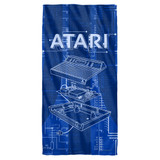 Atari Inside Out Cotton Front Poly Back Beach Towel White 30x60