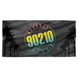 Beverly Hills 90210 Palms Logo Cotton Front Poly Back Beach Towel White 30x60