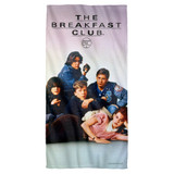 Breakfast Club Poster Cotton Front Poly Back Beach Towel White 30x60
