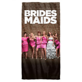 Bridesmaids Poster Cotton Front Poly Back Beach Towel White 30x60
