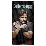 Californication Moody Cotton Front Poly Back Beach Towel White 30x60