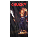 Child's Play 3 Knife Cotton Front Poly Back Beach Towel White 30x60