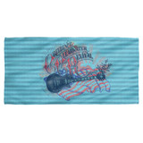 Creedence Clearwater Revival Americana Cotton Front Poly Back Beach Towel-30x60