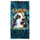 Def Leppard Hysteria Cover Cotton Front Poly Back Beach Towel White 30x60