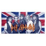 Def Leppard The Boys Cotton Front Poly Back Beach Towel White 30x60