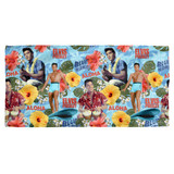 Elvis Presley Blue Hawaii Cotton Front Poly Back Beach Towel White 30x60