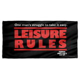 Ferris Bueller Struggle Cotton Front Poly Back Beach Towel White 30x60