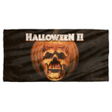 Halloween II Poster Sub Cotton Front Poly Back Beach Towel White 30x60