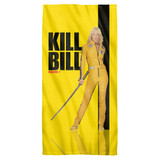 Kill Bill Vol 1 Poster Cotton Front Poly Back Beach Towel White 30x60