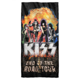 Kiss Boom Cotton Front Poly Back Beach Towel-30x60