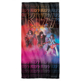 Kiss Stage Lights Cotton Front Poly Back Beach Towel White 30x60