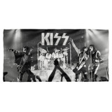 Kiss Staged Cotton Front Poly Back Beach Towel White 30x60