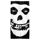 Misfits Fiend Skull Cotton Front Poly Back Beach Towel White 30x60