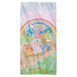 My Little Pony Retro Classic Ponies Cotton Front Poly Back Beach Towel-30x60