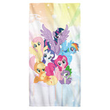 My Little Pony Tv Pony Group Cotton Front Poly Back Beach Towel-30x60