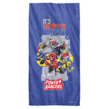 Power Rangers Its Morphin Time Cotton Front Poly Back Beach Towel-30x60