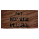 Pulp Fiction Bmf Cotton Front Poly Back Beach Towel White 30x60
