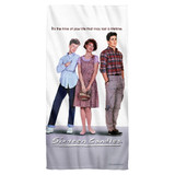 Sixteen Candles Poster Cotton Front Poly Back Beach Towel White 30x60