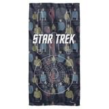 Star Trek Enterprise Crew Cotton Front Poly Back Beach Towel White 30x60