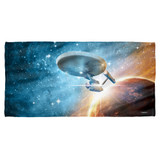 Star Trek Final Frontier Cotton Front Poly Back Beach Towel White 30x60