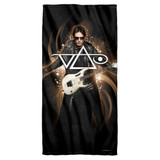 Steve Vai Ethereal Cotton Front Poly Back Beach Towel White 30x60