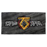 Twisted Sister Twisted Metal Cotton Front Poly Back Beach Towel-30x60