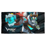 Voltron Defender Of The Universe Cotton Front Poly Back Beach Towel White 30x60