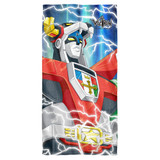 Voltron Lightning Combine Cotton Front Poly Back Beach Towel White 30x60