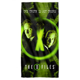 X-Files Trust No One Cotton Front Poly Back Beach Towel White 30x60