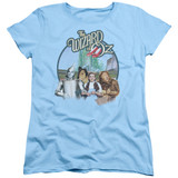 Wizard of Oz We're Off To See Wizard S/S Women's T-Shirt Light Blue Clearance