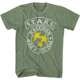 Resident Evil S.T.A.R.S. RPG Military Green Heather Adult T-Shirt