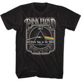Pink Floyd 1973 Tour Black Adult Classic T-Shirt