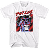 They Live They Live Obey White Adult T-Shirt