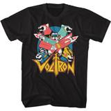 Voltron Retron Black Adult T-Shirt