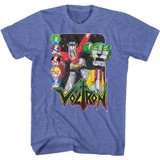 Voltron Voltron and Pilots Royal Heather Adult T-Shirt