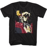 Voltron Voltron in Space Black Adult Classic T-Shirt